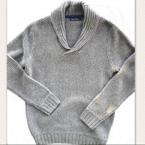 James Pringle grey wool sweater size small